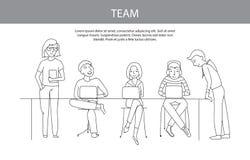 Groepswerk, team vectorconcept Royalty-vrije Stock Foto