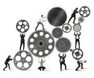 Groepswerk van zakenlui Stock Foto