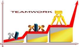 Groepswerk/vectorillustratie van groepswerk Stock Afbeeldingen