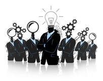 Groepswerk voor de groei en vooruitgang Stock Afbeelding
