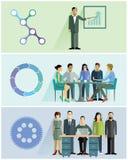 Groepswerkillustraties Stock Foto