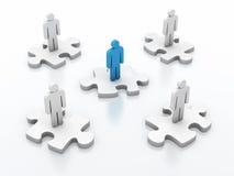 Groepswerkraadsel stock illustratie