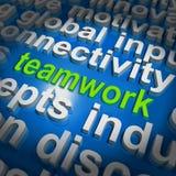 Groepswerkword de Wolk toont Gezamenlijke Inspanning en Samenwerking vector illustratie