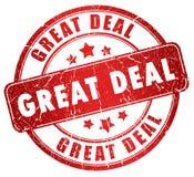 Großer Abkommenstempel Lizenzfreies Stockbild