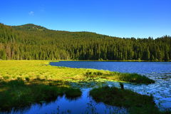 Großer Arbersee is a lake in Bayerischer Wald, Bavaria, Germany Stock Photo
