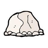 großer Felsen der komischen Karikatur Stockfotos
