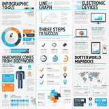 Großer Satz des infographic Elementvektors EPS10 Lizenzfreies Stockfoto