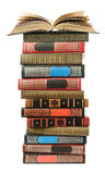 Großer Stapel alte antike Bücher Stockfotos