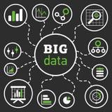 Großes Daten-Illustrations-Schwarzes Lizenzfreie Stockbilder