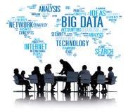 Großes Datenspeicherungs-Informations-Weltkarte-Konzept Lizenzfreie Stockfotos