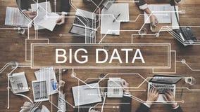 Großes Datenspeicherungs-Netz-on-line-Server-Konzept Stockfotos