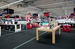 Großes elektronisches Einzelhandelsgeschäft Stockbild