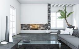 Großes modernes Wohnzimmer Stockbilder
