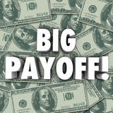 Großes Profit-Geld-Jackpot-Ergebnis-Ergebnis vergütet Regelung Lizenzfreie Stockfotografie