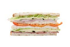 Großes Sandwich auf einem weißen Hintergrund Stockfotografie