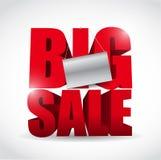 Großes Verkaufszeichen und Fahnenillustrationsdesign Lizenzfreie Stockfotos