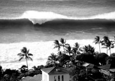 Großes Wellen-WARNING Stockfotos