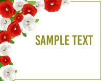 Groet of uitnodigingskaart met bloemen voor huwelijk, verjaardag en andere vakantie Vector illustratie Stock Fotografie