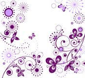 Groet uitstekende violette kaart stock illustratie