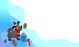 Groet van Kerstmanpuppy Royalty-vrije Stock Foto