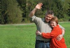 Groet van ouders Stock Foto's