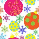 Groetachtergrond met Kerstmisthema Royalty-vrije Stock Fotografie