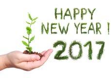 Groeten Gelukkig nieuw jaar 2017 Stock Foto