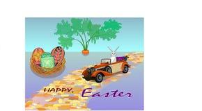 Groeten gelukkige Pasen van de Paashaas stock illustratie