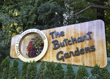 Groeten van de Butchart-Tuinen Stock Foto