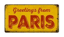 Groeten van Parijs stock fotografie