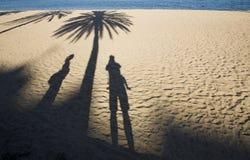 Groeten van strand Stock Foto's