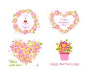 Groeten voor mamma met mooi roze en margriet vector illustratie