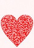 Groetkaart één groot hartpatroon Royalty-vrije Stock Afbeeldingen
