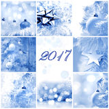 Groetkaart 2017 Stock Foto's