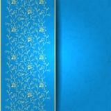Groetkaart, achtergrond met bloemengeklets Stock Afbeelding