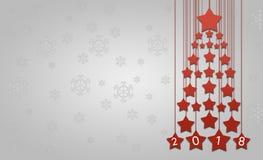 Groetkaart of behang voor de wintervakantie Royalty-vrije Stock Foto