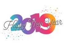 2019 - Groetkaart - Gelukkig Nieuwjaar stock illustratie