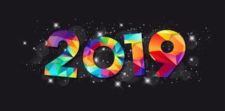 2019 - Groetkaart - Gelukkig Nieuwjaar royalty-vrije illustratie