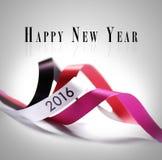 Groetkaart - Gelukkig Nieuwjaar 2016 Stock Foto