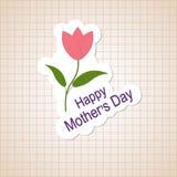 Groetkaart - Gelukkige Moedersdag Stock Illustratie
