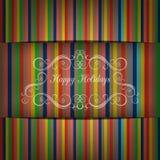 Groetkaart in heldere kleurentonen en schaduwen, vectorbeeld Royalty-vrije Stock Foto's