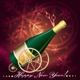 Groetkaart met Champagne Royalty-vrije Stock Fotografie