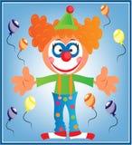 Groetkaart met clown Stock Foto's