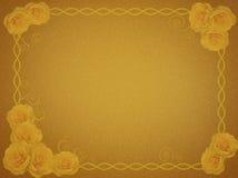 Groetkaart met gele rozen royalty-vrije stock afbeeldingen
