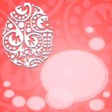 Groetkaart met gelukkig Pasen-rood Royalty-vrije Stock Afbeeldingen