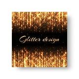Groetkaart met gouden stralen Stock Afbeelding