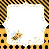 Groetkaart met honingbij Stock Foto