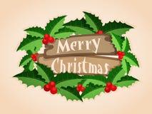 Groetkaart met modieuze teksten voor Kerstmis Stock Foto's