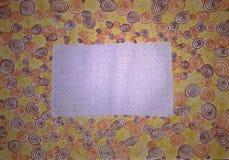 Groetkaart met vele spiralen Met de hand gemaakte illustratie Stock Fotografie
