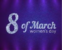 Groetkaart op de Dag van Internationale Vrouwen Royalty-vrije Stock Afbeeldingen